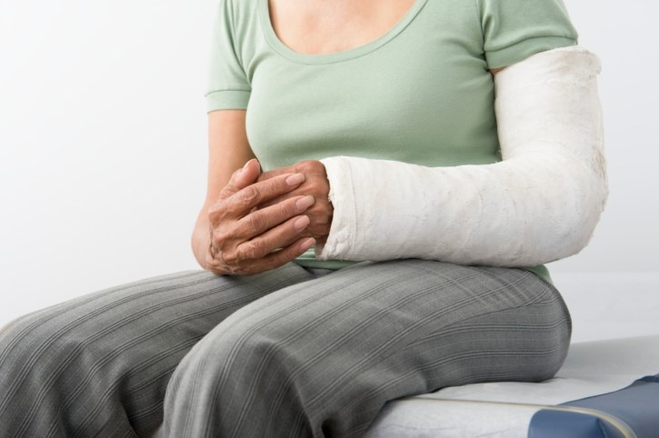 Wide spread chronic body pain later in life may be the result of a major bone fracture.