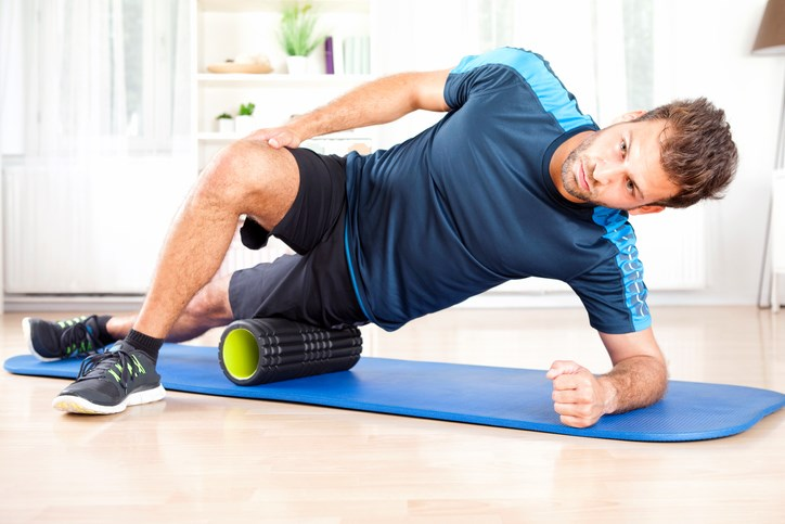 Patients with GTPS may use foam rollers to gently massage the affected area.