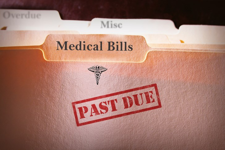 Fewer American families are struggling to pay medical bills.