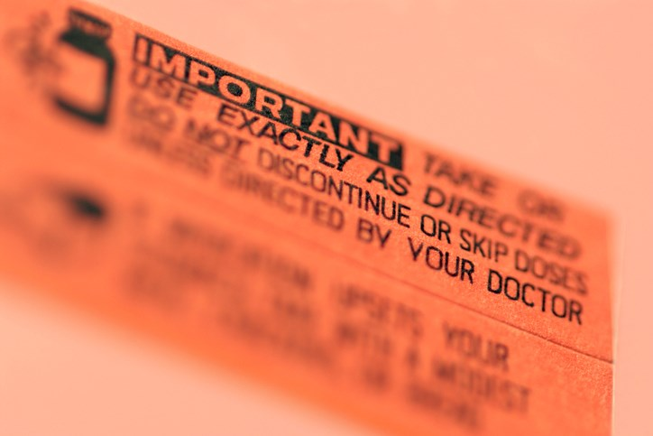 Prescription drug warning labels may be harmful to a patient's understanding of the medication's instructions, which could affect medication adherence.