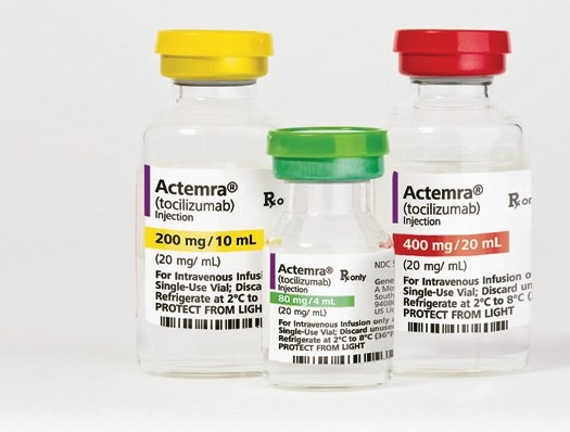 Actemra is a humanized interleukin-6 (IL-6) receptor antagonist. It has been approved to treat adult patients with moderate-to-severe active rheumatoid arthritis and giant cell arthritis.