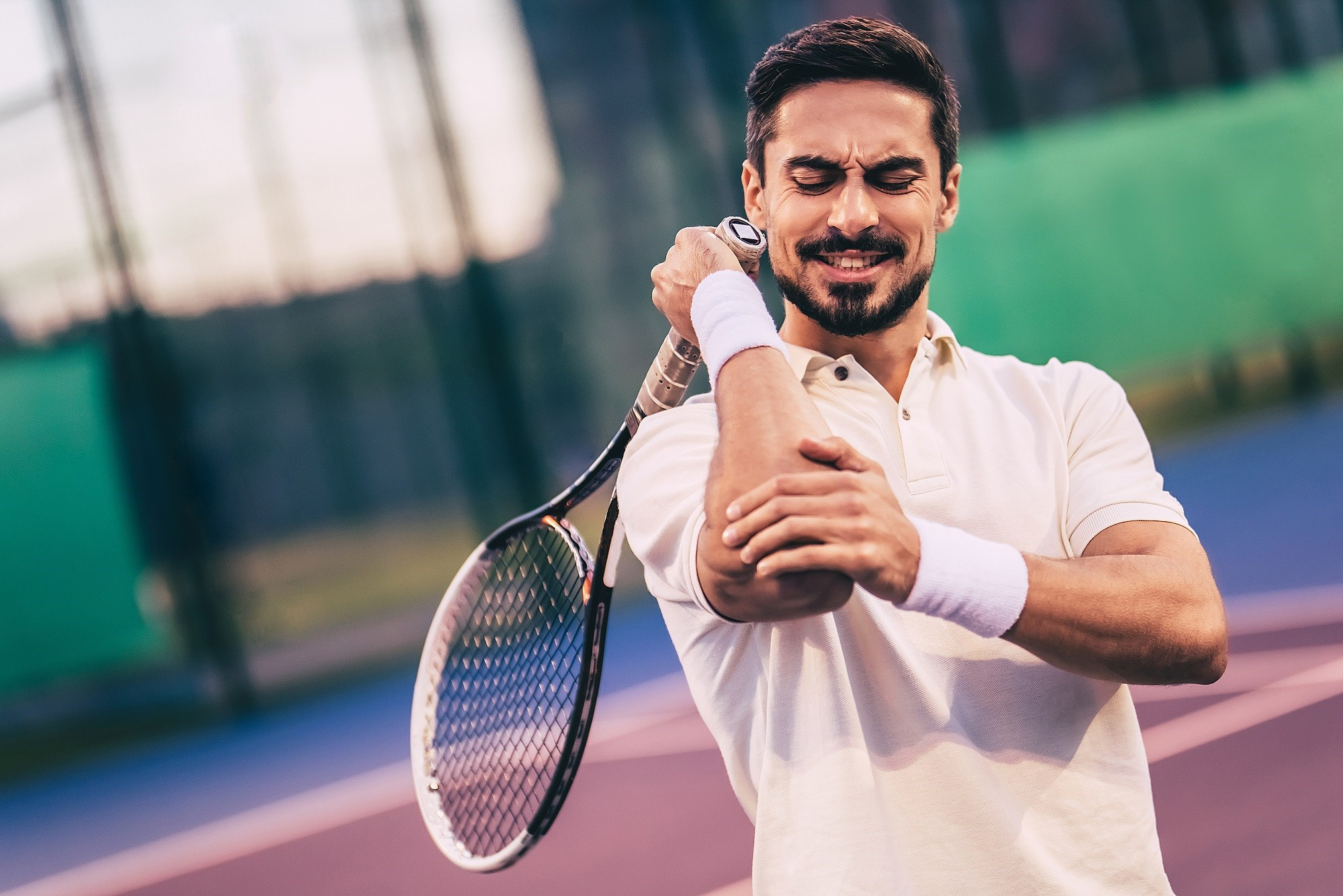 At best, all treatments provide only small pain relief for tennis elbow.